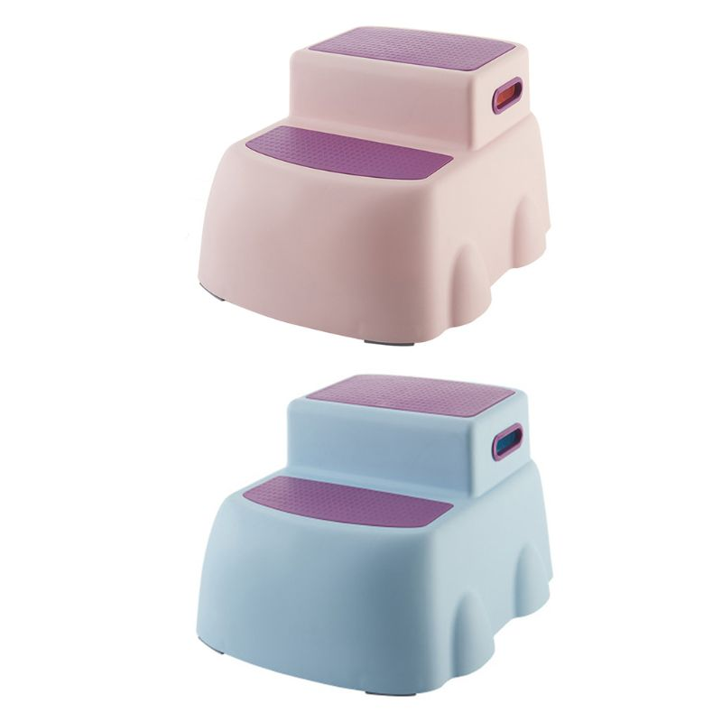 Children's Double Height Step Stool, Toddler's Stool, Suitable For Potty Training In The Bathroom
