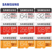 Karta microsd SAMSUNG EVO Plus PRO 512Gb 256G 128G 64G 32Gb EVO U3 U1 Class10 U1 microSDXC SDHC EVO + 16G 32Gb karta pamięci tanie tanio Read speed up to 48MB s MB-MP16D TF Micro SD Card up to 10MB s