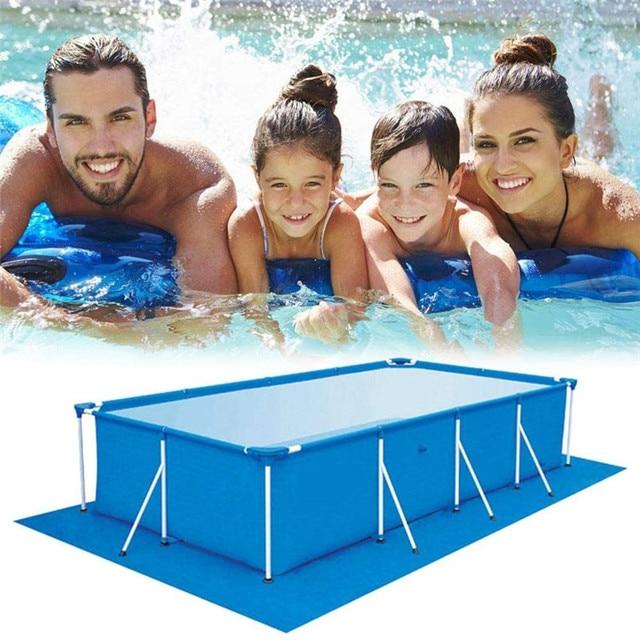 Cubierta de piscina, alfombrilla para piscina, suelo de piscina, tela de gran tamaño, cubierta de labios, a prueba de polvo, Alfombra de piscina plegable resistente a los rayos UV 2