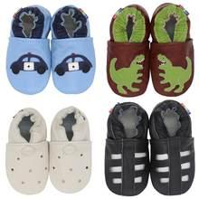 Carozoo sapatos de couro macio do bebê menino menina infantil sapato chinelos novo estilo primeiro walker couro skid-proof crianças sapatos