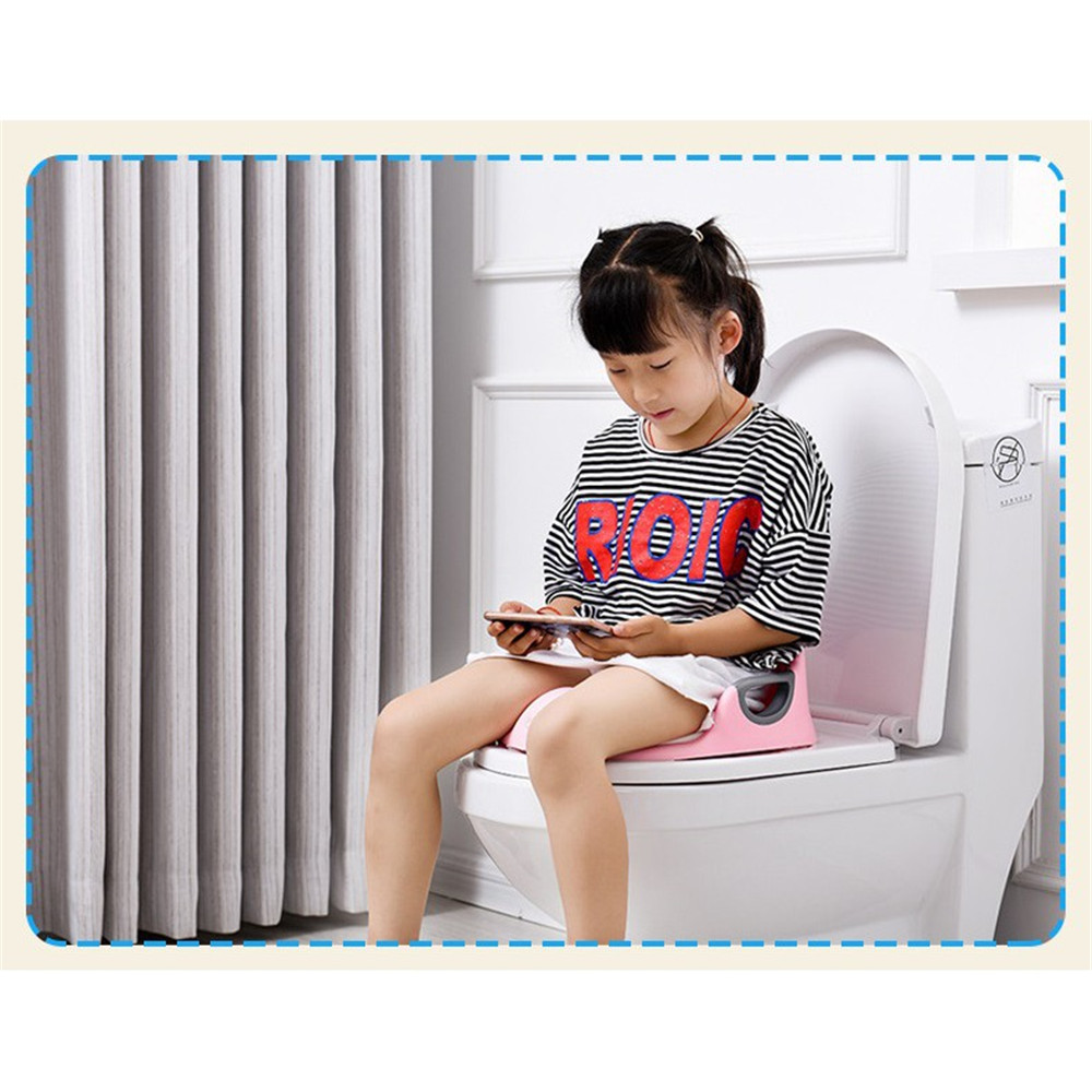 Potty Seats Toilet Training Potty Training Seat Kids Toilet Seat For Baby Backrest Toilet Trainer For Child blue white pink in Potties from Mother Kids