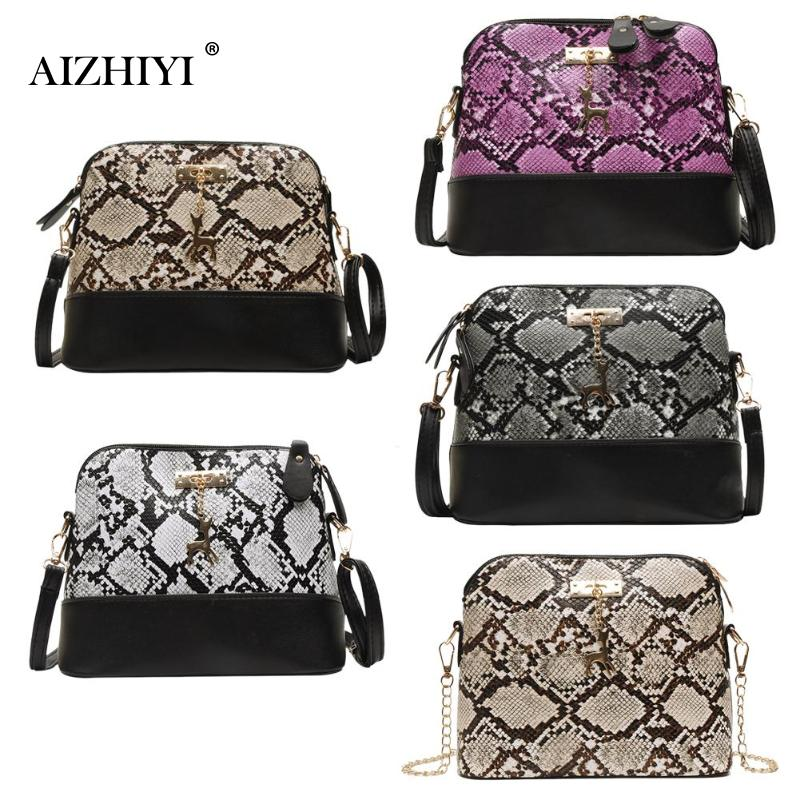 Crossbody Bags For Women 2019 Fashion Classic Serpentine Messenger Bags Women Snake Print Shoulder Bag Casual Money Pouch