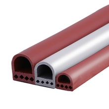 6m D type silicone rubber door sealing strip window sound insulated strip self-adhesive tape window insulation seal