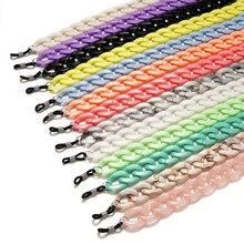 Teamer – chaîne de lunettes de soleil Chic pour femmes, en acrylique, porte-lunettes de lecture, cou suspendu, lanière