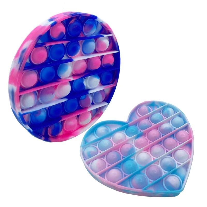 Нажимная поп-Пузырчатая сенсорная игрушка для аутистов нужна сжимающая игрушка для снятия стресса для взрослых детей забавная антистрессо...