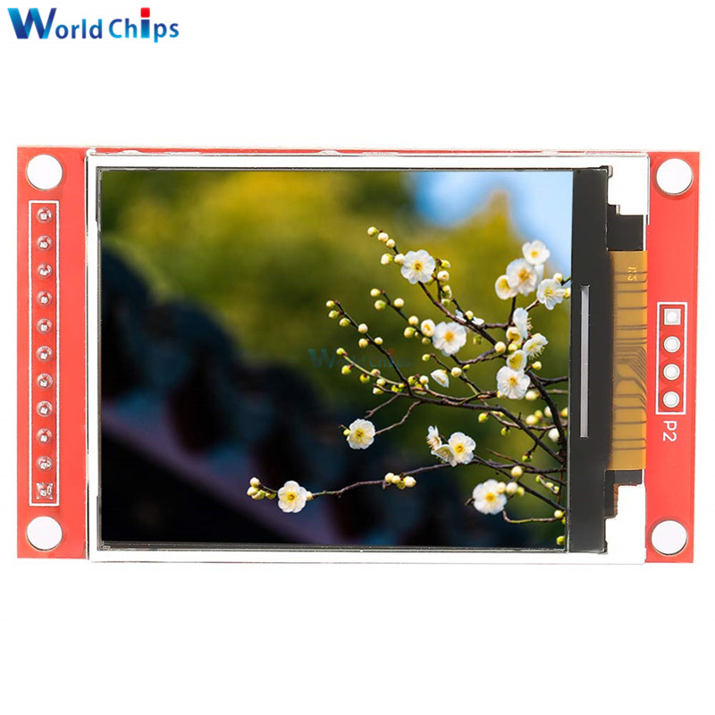 2.0 Inch 176*220 UART TFT LCD Display Module ILI9225 SPI Interface Colorful Screen Serial Port Support 3/5.5V Power Supply 4 IO