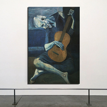 Pablo Picasso Playing Guitar Wall Art Canvas Minimalist Abstract Nordic Posters Prints  Pictures for Living Room Home Decor