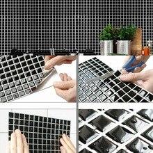Self Adhesive Mosaic Tile Wall decal Sticker DIY Kitchen Bathroom Home Decor Vinyl gray wood vinyl film waterproof tile flooring kitchen bathroom self adhesive flooring tile wall tile sticker