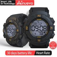 Ainuevo Smart Uhr 2020 Mann Bluetooth Wasserdichte Kontinuierliche Herz Rate Überwachung Smart Re mi nder amazfit sport xiao mi Kinder l9|Smart Watches|   -