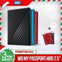 Western Digital WD My Passport™1TB 2TB 4TB ฮาร์ดดิสก์ภายนอก WD Backup™ซอฟต์แวร์และรหัสผ่านป้องกันรับประกัน 3 ปี
