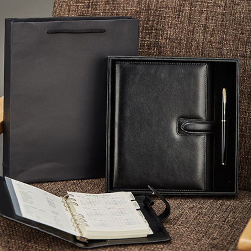 New Arrivals Yiwi Black Brown Genuine Leather A6 A5 Notebook Diary