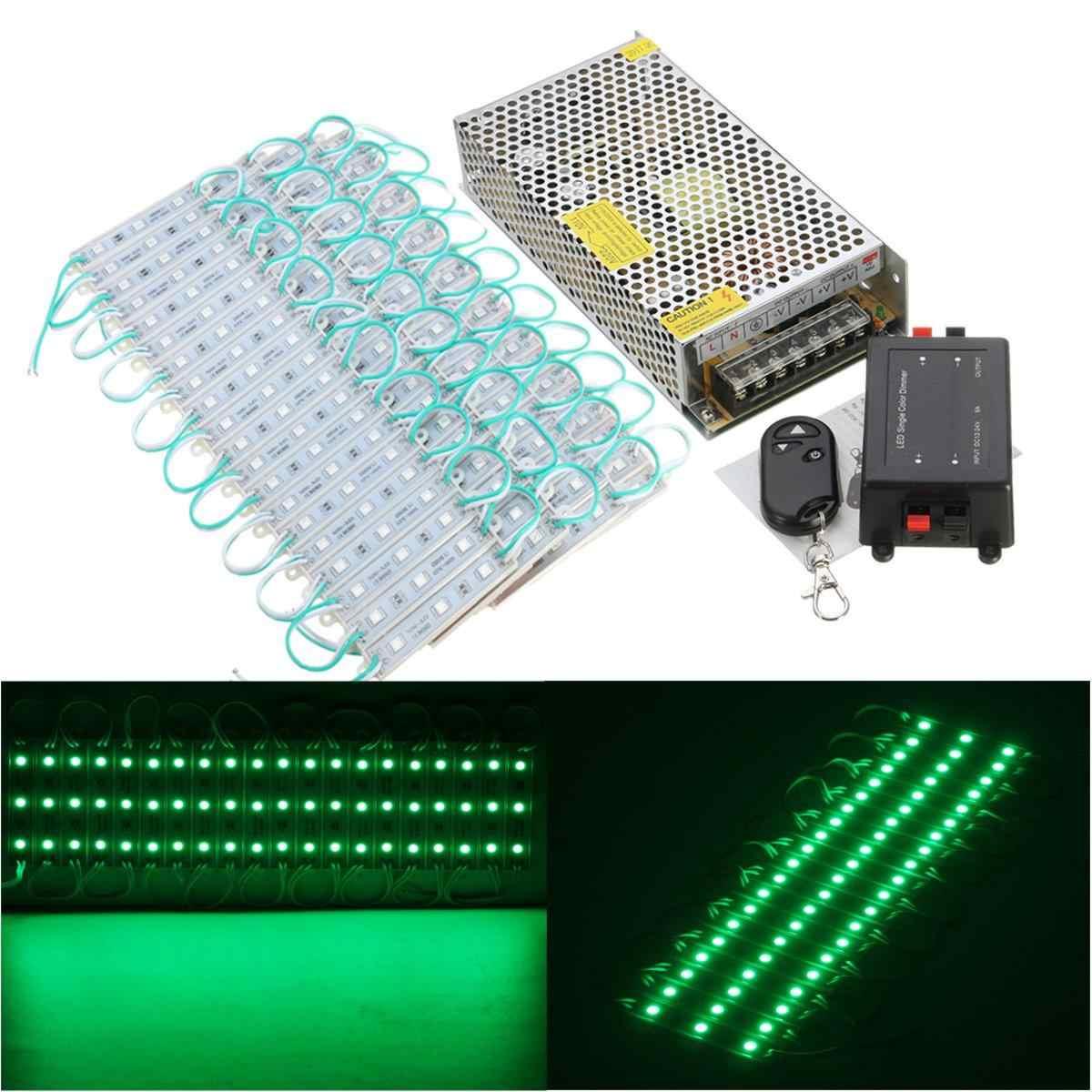 80 pièces 5 couleurs SMD5050 LED Module magasin bande lumière avant fenêtre lampe + alimentation + télécommande DC12V