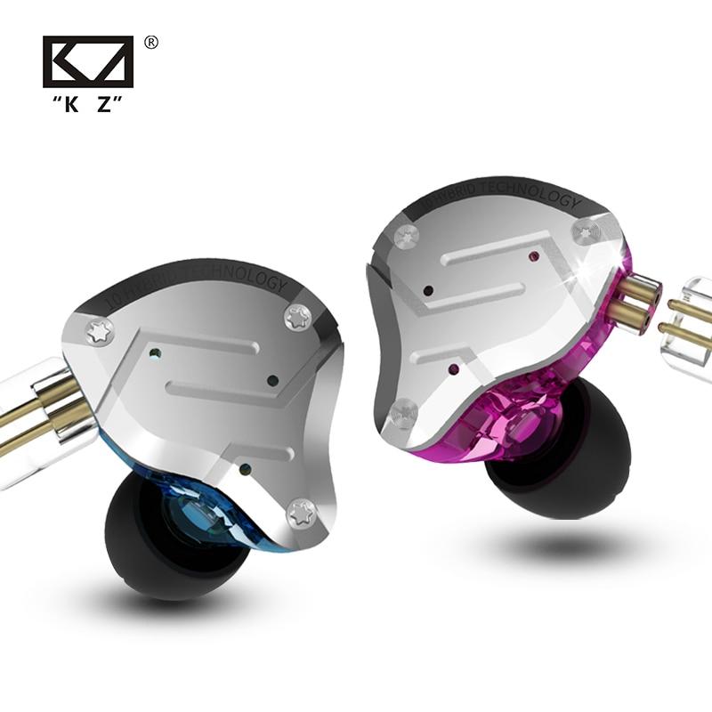 KZ ZS10 Pro 4BA+1DD Metal Headset Hybrid 10 drivers HIFI Bass Earbuds In Ear Monitor Sport Noise Cancelling Earphones KZ ZAX ZSX