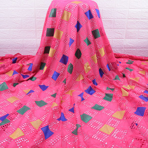 Image 5 - Son afrika dantel kumaş yüksek kaliteli nijeryalı günü dantel kumaş delikli nakış İsviçre saf pamuklu kumaş günlük WearA1754