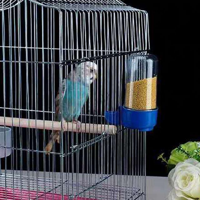 2 pcs Bird Water Drinker Feeder Waterer with Clip Pet Bird Supplies Dispenser Bottle Drinking Cup Bowls For Pet Parrot Cage 2