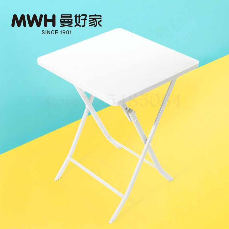 Железный маленький стол, складной небольшой квадратный стол, простой маленький круглый стол, журнальный столик для спальни, маленький обеденный стол для балкона - Цвет: Sparks Fy 6