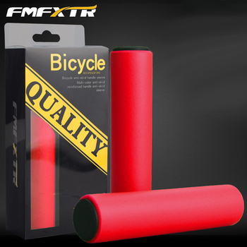 Racing MTB Bike Handlebar set Silicone Handlebar Soft Ultralight Bicycle Anti-skid Shock-absorbing Cycling Handle Bar image