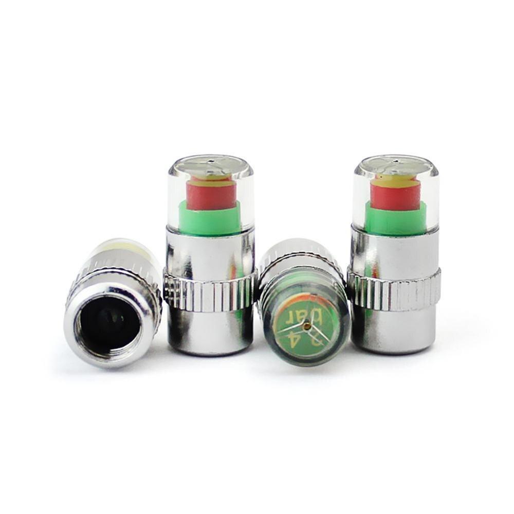 4Pcs Car Auto Tire Pressure Monitor Tyre Gage Alert Sensor Indicator Valveed  Caps