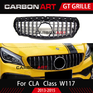 Image 2 - 11.11 CLA W117 GT style Grille for MB Front Grill for CLA Class W117 C117 CLA200 220 CLA260 300 2013 2015 FOR benz front grille