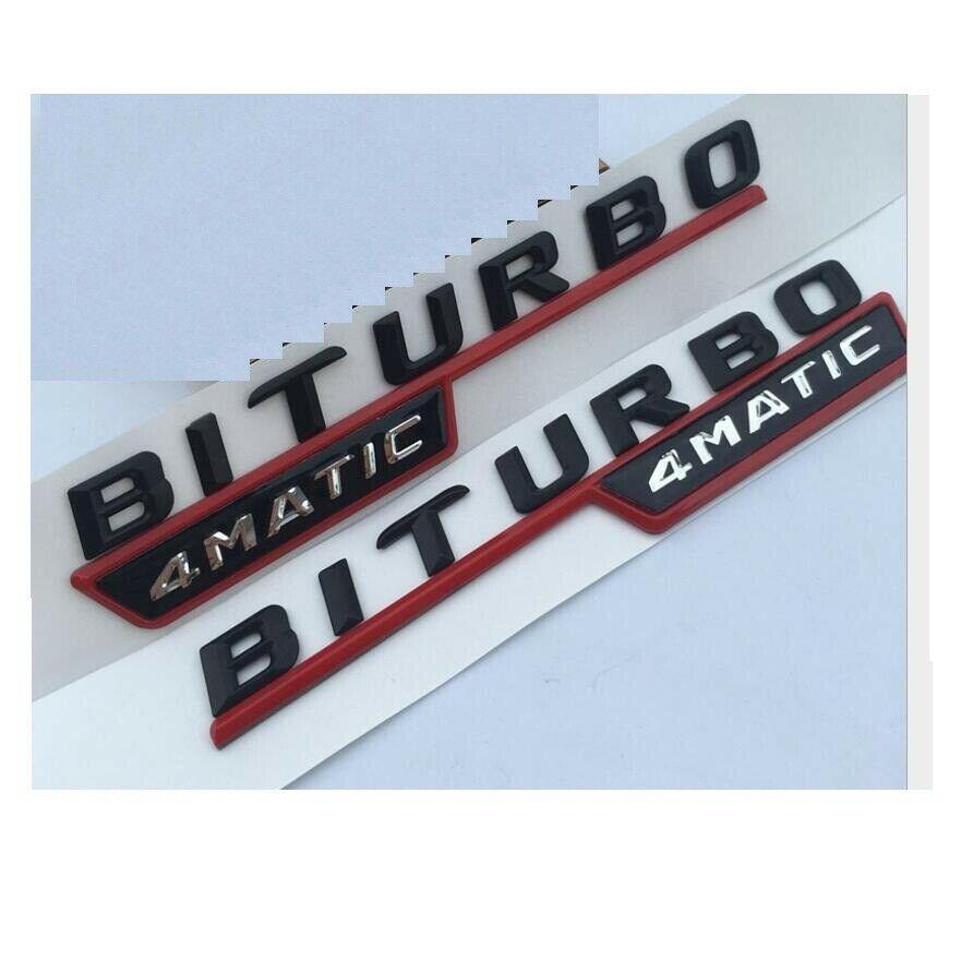 Black Trunk 3D Letters Number Emblem Badge Sticker for Mercedes Benz GLS350