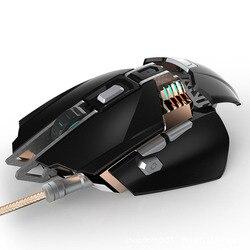 KCPDS mysz do gier ergonomiczna przewodowa mysz 7-LED 3200 DPI optyczne makro programowalny komputer USB mysz przewodowa mysz do gier dowcip