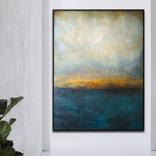 Hand Painted Art Oil Abstract oil painting Blue And White Painting On Canvas Large abstract Palette