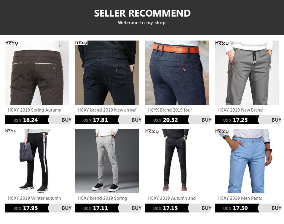 H08580b3ae4104877b84ef07a01405155F HCXY 2019 Men Pants Cotton warm Straight Trousers autumn and winter Men's Plus velvet Casual Pants Plus size 28-38