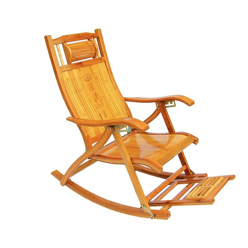 Recliner Folding Siesta Bamboo Recliner Old Man Siesta Chair Rocking Chair Adult Cool Chair Siesta Magic Back Chair