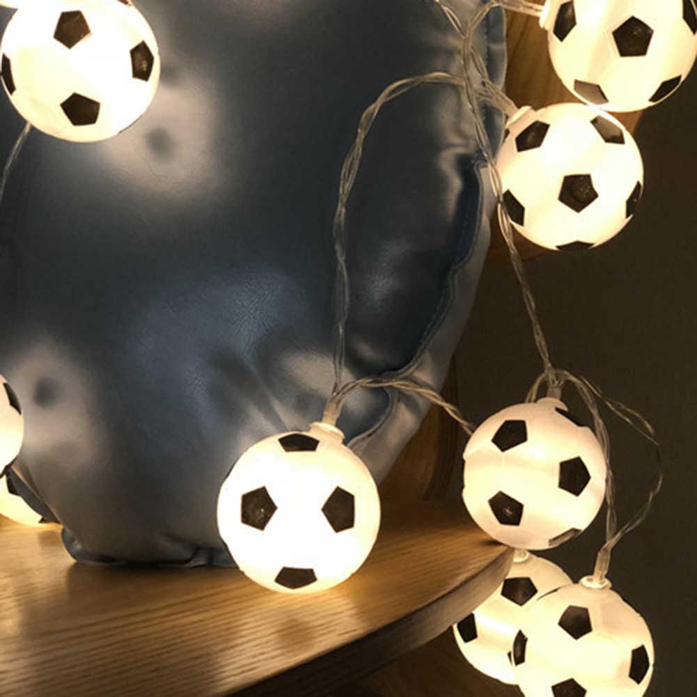 300cm 20 Leds Night Football String Lights Soccer Ball Light Garlands Decor Kids Bedroom Party Xmas Holiday Light Lighting Strings Aliexpress