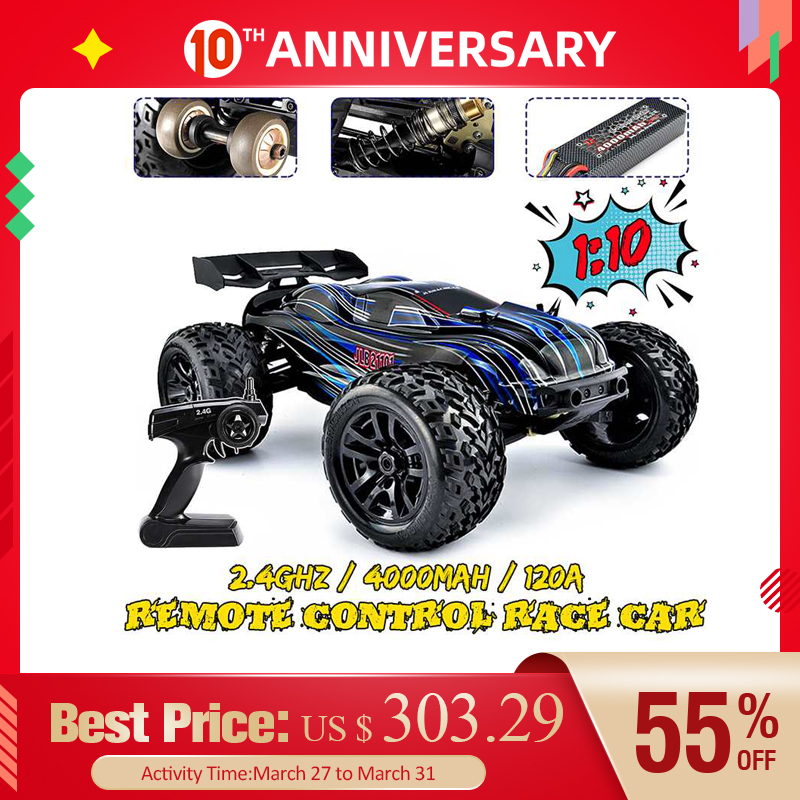 RC Car JLB Racing 1:10 4WD CHEETAH 120A Upgrade 1/10 Brushless RC Model Toys Off-road Truck Functional Climbing Control Cars