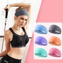Новая спортивная повязка на голову, широкая, дышащая, против пота, повязка на голову для фитнеса, йоги, бега, танцев