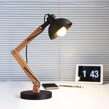 Artpad Desk Lamp LED Wood E27 Bulb Eye Protection For Kids Room Study Bedroom Office 110V 220V Reading Table Lamps Lighting