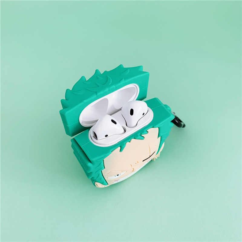 Dla AirPod 2 przypadku 3D Kobito Cartoon miękkiego silikonu bezprzewodowe słuchawki etui na apple etui airpods słodkie okładka Funda + palec serdeczny