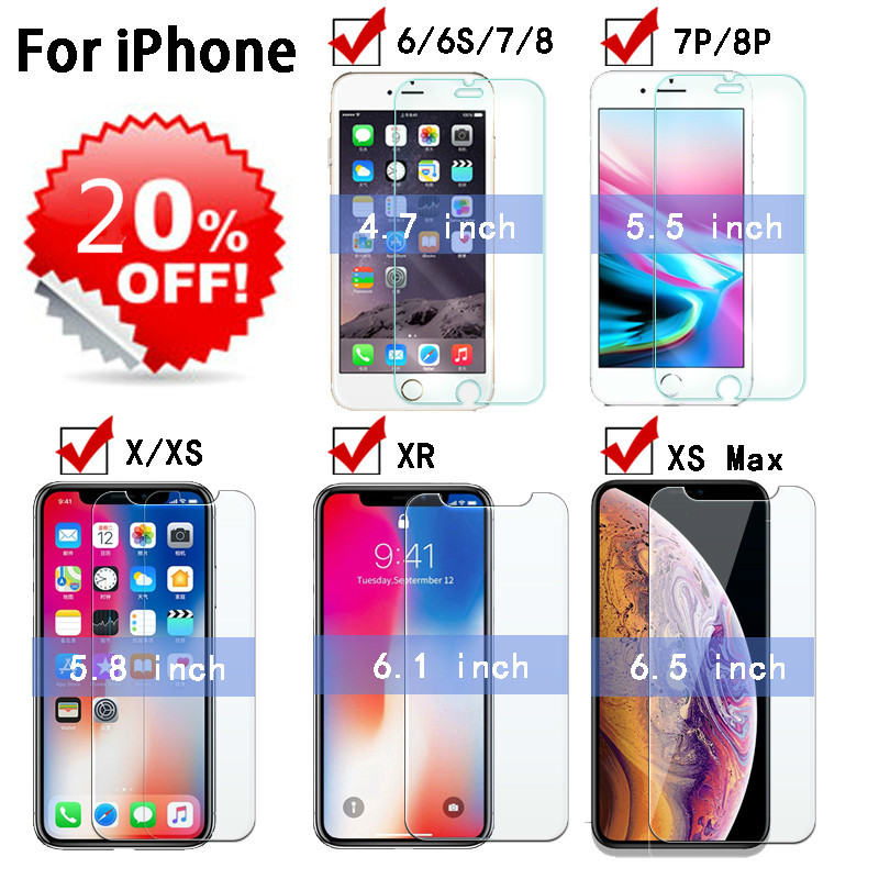 Glass For IPhone X S Glass 6 7 8 Plus Temple Glass For IPhone 6 S XR X S X Max Tempered Glass For Iphone Xr Screen Protector