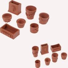 Коллекционные предметы, миниатюрный цветочный горшок бонсай 7 шт./компл. для кукольного домика 1/12, аксессуары для декора сказочного сада