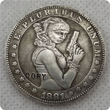 Hobo Nickel Coin Sexy belle 1881-CC Morgan Dollar COPY COIN-replica commemorative coins(China)