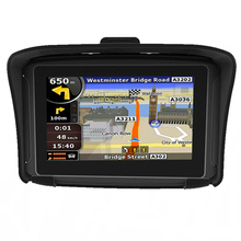 2 in 1 Motorcycle Car GPS Navigator 4.3 Inch Flexible Touch Screen Waterproof IPX7 Bluetooth FM Wince6.0 and Europe Map