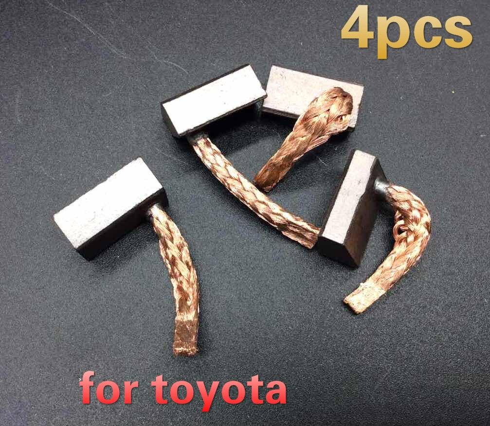 4 pièces pour Toyota Corolla prado Highlander couronne Reiz voiture démarreur générateur moteur brosse à charbon
