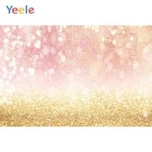 цена на Glitter Pink White Blue Silver Golden Dots Light Bokeh Baby Portrait Photography Background Vinyl Backdrop For Photo Studio Prop
