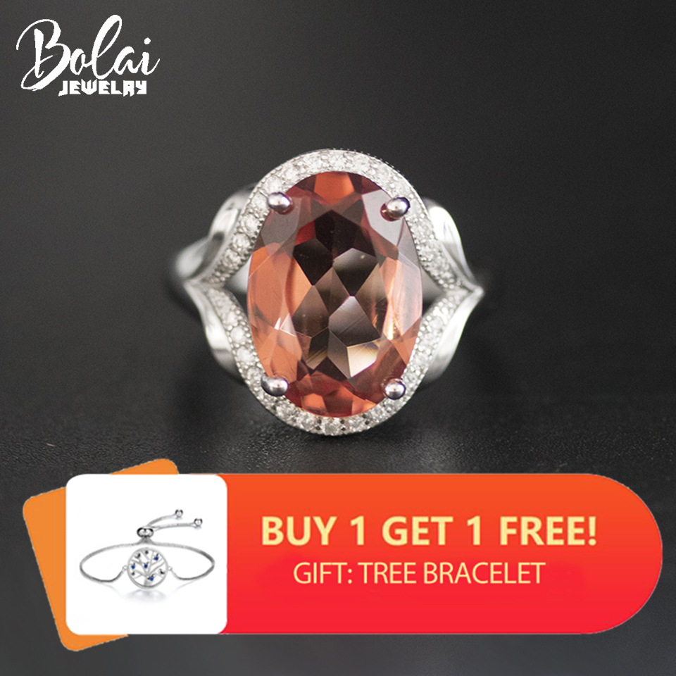 Bolai Color Change Sultanit Ring 925 Sterling Silver Oval 14*10mm Pink Green Nano Diaspore Gemstone Jewelry Ring For Women 11.11