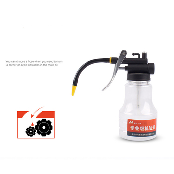 Oil Can Transparent High Pressure Oiler Lubrication 250ml Oil Can Bottle Manual Oiling Gun With Rigid Spout Thumb Pump Too TSLM1 2