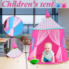 Portable Children's Tent Kids Pink Princess Castle for Girls Child Playing Tiny Play House Teepee Cabin Girl Tents Gifts