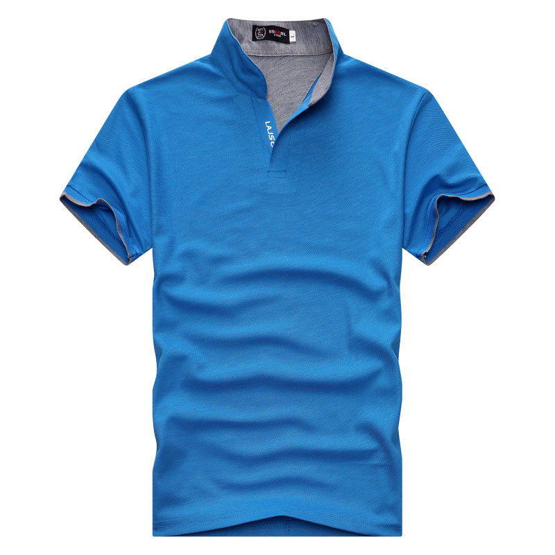 Men   Polo   Shirt Tops Fashion Plus Size Short Sleeve Black White   Polo   Shirt Sexy Stand Collar Homme Camisa 3XL