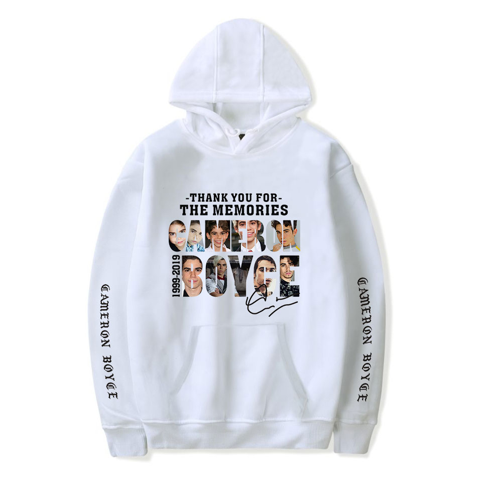 Cameron Boyce Hoodie White Long Sleeve Snug Fashion Men Women Couples Couples Hoodies Cameron Boyce Pullover Winter Autumn Top