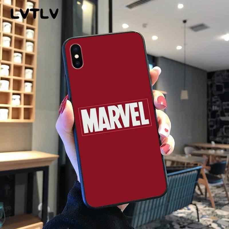 Lvtlv deadpool homem de ferro marvel vingadores tpu macio silicone caso do telefone capa para iphone 11 pro xs max 8 7 6 s plus x 5 5S se xr
