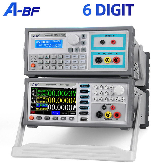 A-BF Programmable Linear Regulated Power Supply 6 Digit Adjustable DC Power Bench Source Color Screen Voltage Current Regulator