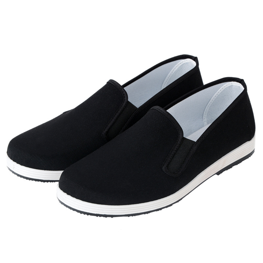 Old Beijing Cloth Shoes For Men Traditional Chinese Style Kung Fu Bruce Lee Tai Chi Retro Rubber Sole Shoes 35-45