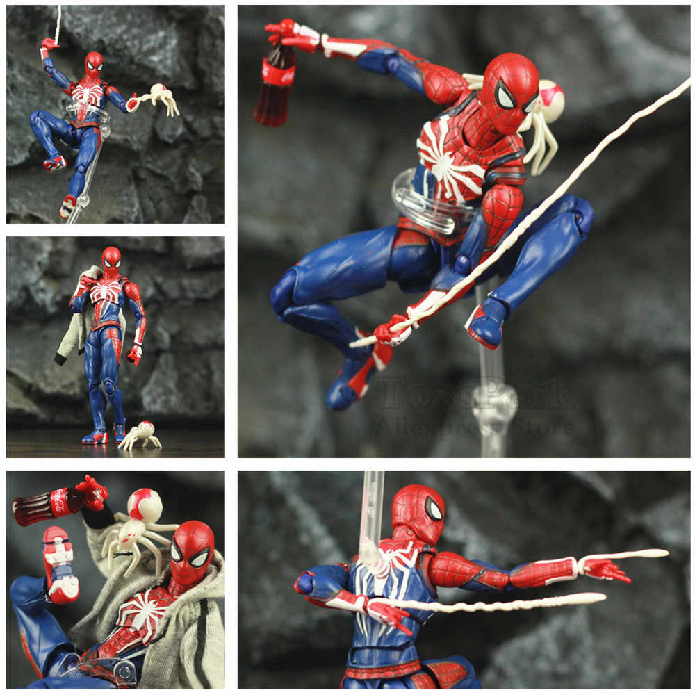 "Spider Game Verse Movie Far From Home 6"" Action Figure Holland KO's SHF PS4  RPG Video Peter Parker Man Legends Toys Doll Model