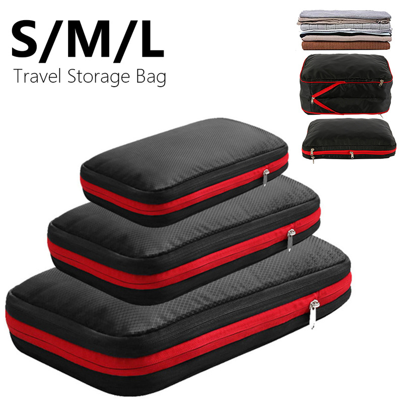 Double Layer Compression Storage Bag Portable Travel Luggage Clothing Organizer Waterproof Packing Bags Large Medium Small Size