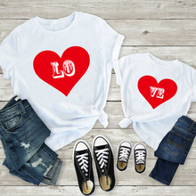 Mommy and me clothes mom Baby Girls soft cotton Heart print